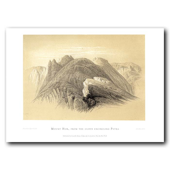 Fine art print for sale. Mount Hor At Petra