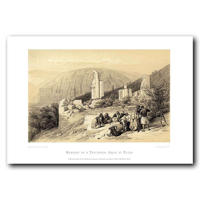 Fine art print for sale. Remains Of A Triumphal Arch At Petra