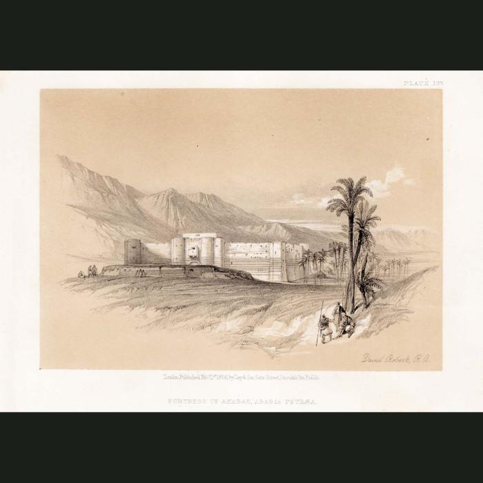 Fine art print for sale. Fortress Of Akaba, Arabia Petraea