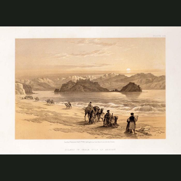 Fine art print for sale. Island Of Graia, Gulf Of Aqaba
