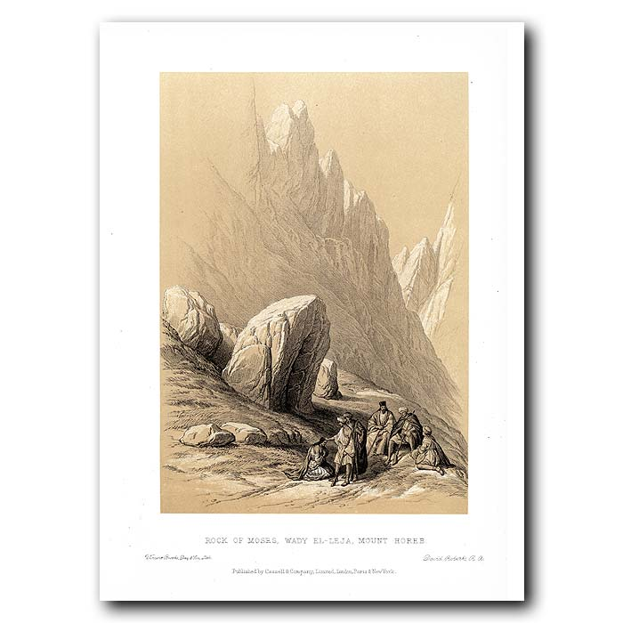 Fine art print for sale. Rock Of Moses, Mount Holeb