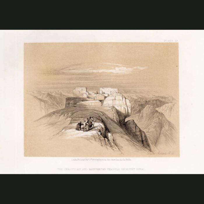 Fine art print for sale. The Christian And Mahometan Chapels At Mt Sinai