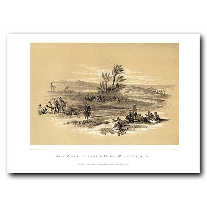Fine art print for sale. The Wells Of Moses