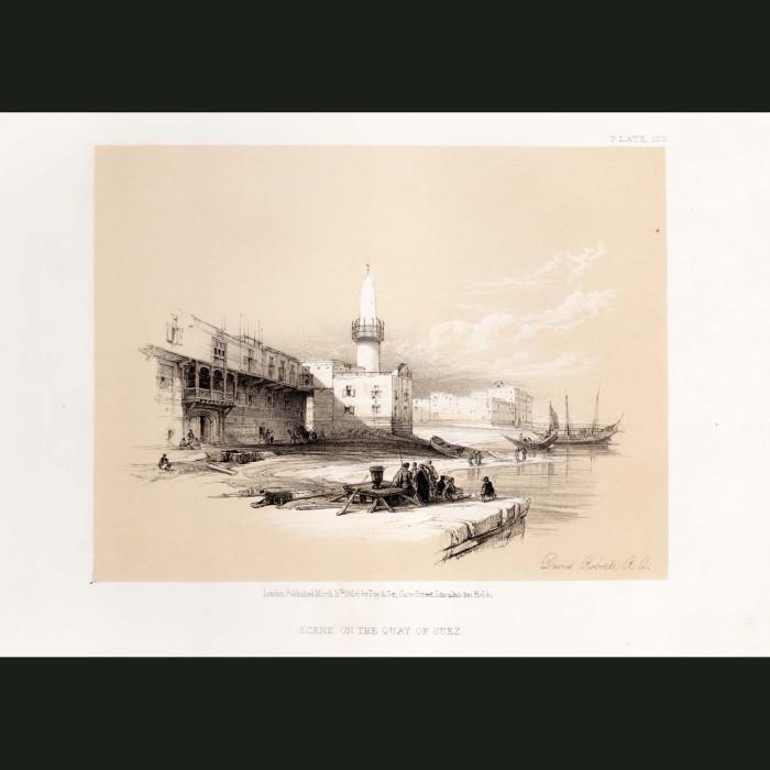Fine art print for sale. Scene On The Quay Of Suez