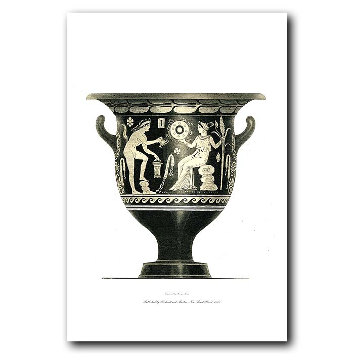 Fine art print for sale. Etruscan Vase (IV) Woman And Satyr