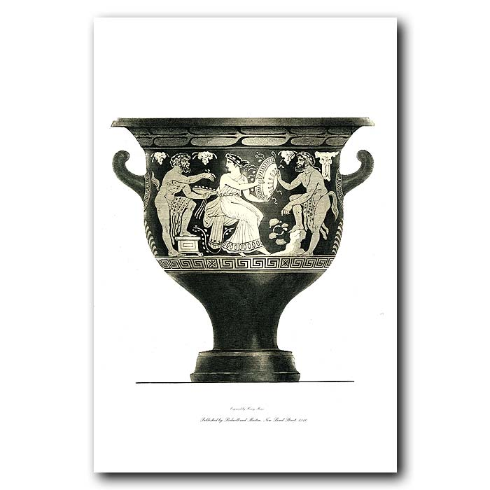 Fine art print for sale. Etruscan Vase (IV) Woman And Fauns