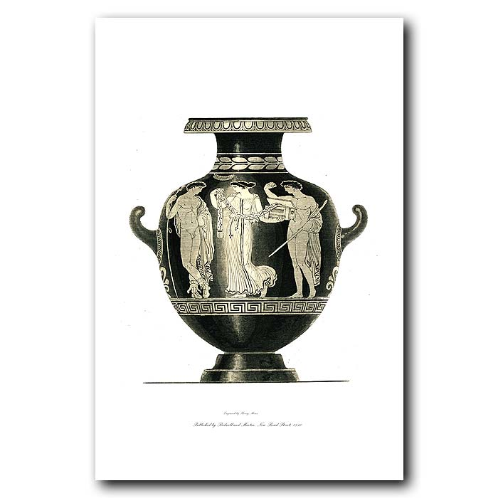 Fine art print for sale. Etruscan Vase (V) Woman And Two Men