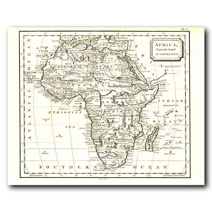 Fine art print for sale. Map Of Africa In 1802