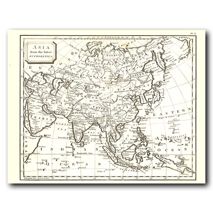 Fine art print for sale. Map Of Asia In 1802