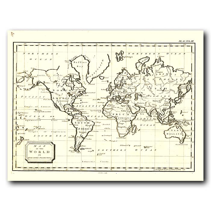 Fine art print for sale. World Map In 1802