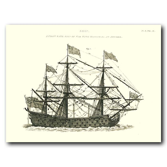 Fine art print for sale. Man Of War Ship