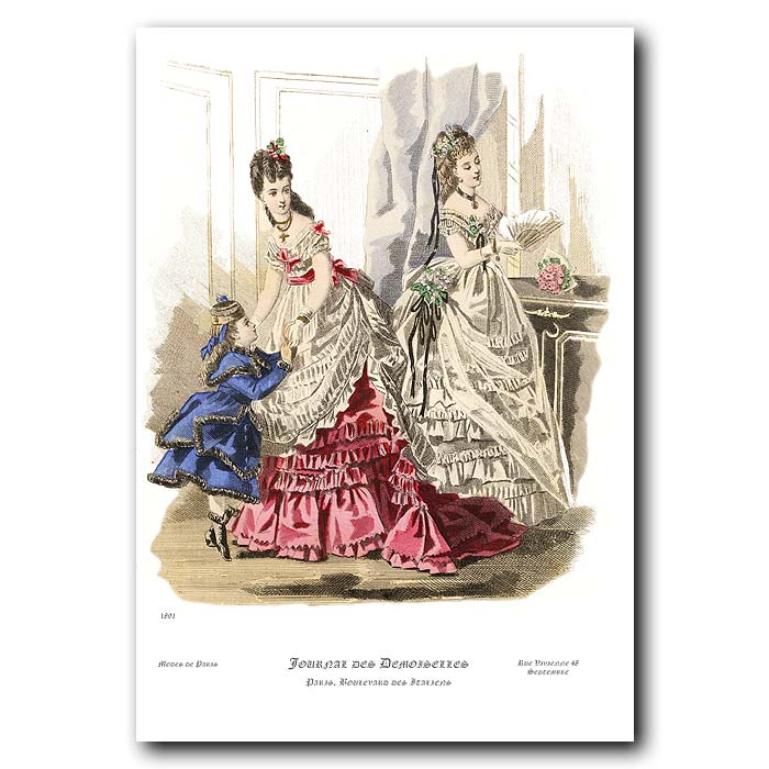 Fine art print for sale. French Fashion: Dressed For The Opera
