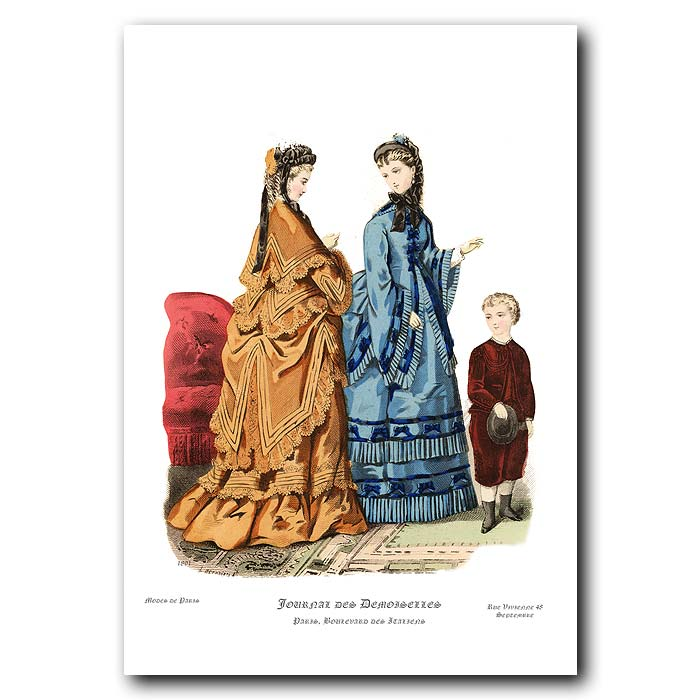 Fine art print for sale. French Fashion: Formal Dresses