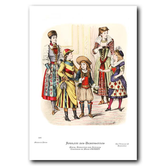 Fine art print for sale. French Fashion: Costumes For Children