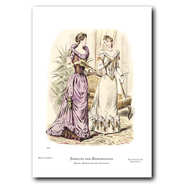 Fine art print for sale. French Fashion For The Theatre