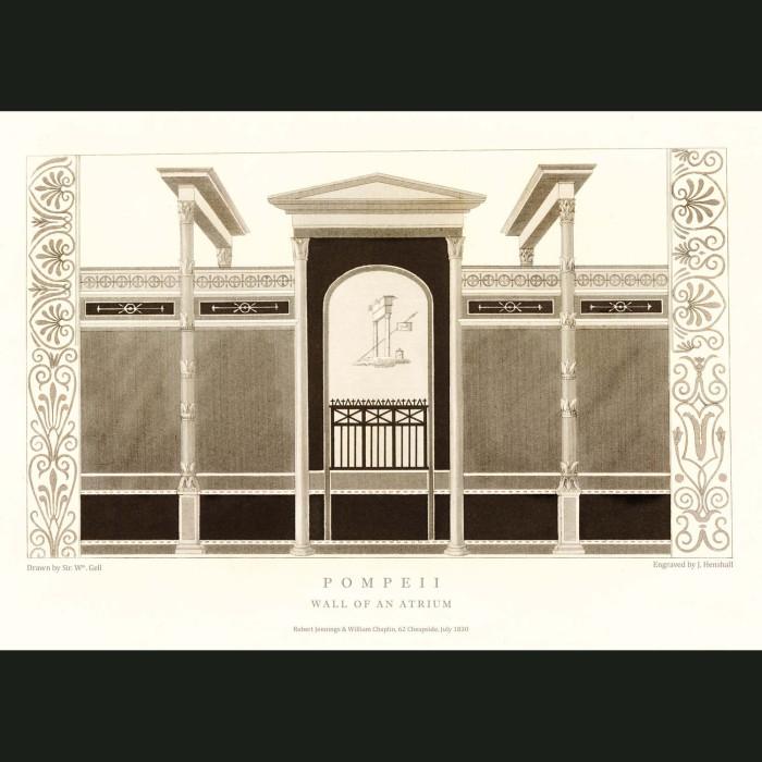 Fine art print for sale. Pompeii: Wall Of An Atrium