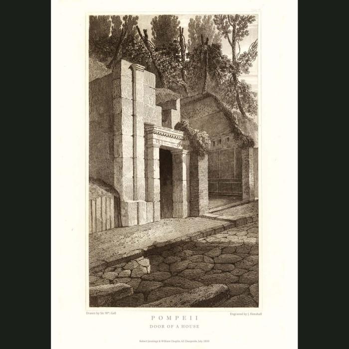 Fine art print for sale. Pompeii: Door Of A House