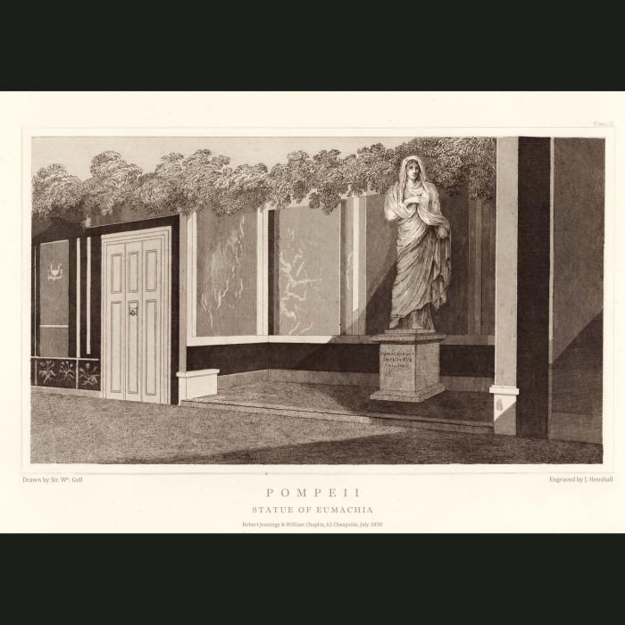 Fine art print for sale. Pompeii: Statue Of Eumachia