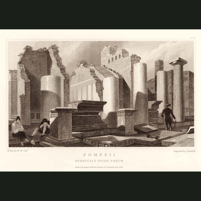 Fine art print for sale. Pompeii: Pedestals In The Forum (I)