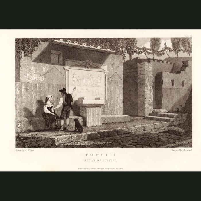 Fine art print for sale. Pompeii: Altar Of Jupiter