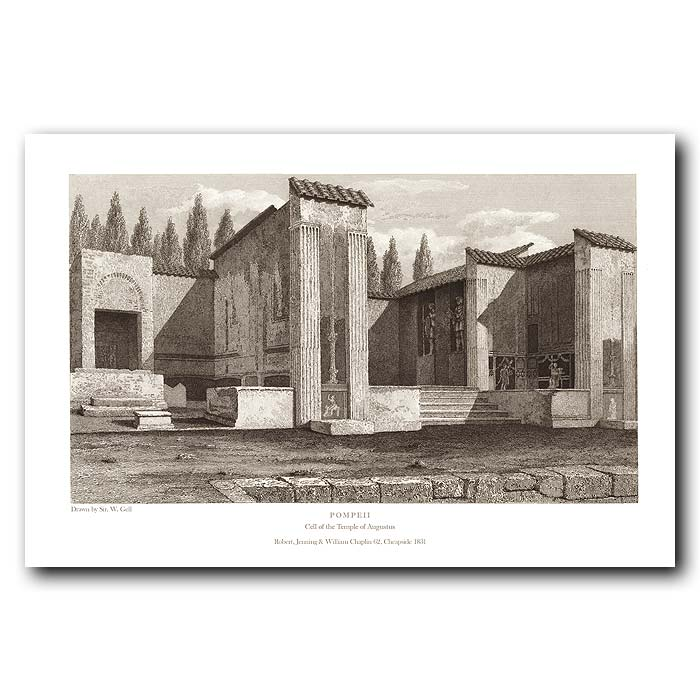 Fine art print for sale. Pompeii: Cell Of The Temple Of Augustus
