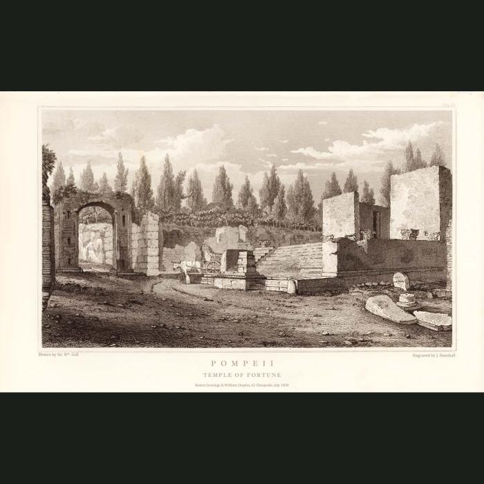 Fine art print for sale. Pompeii: Temple Of Fortune (II)