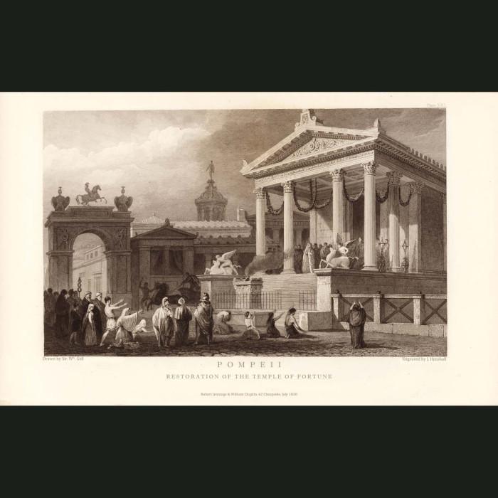 Fine art print for sale. Pompeii: Temple Of Fortune (I)