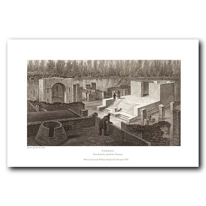 Fine art print for sale. Pompeii: Roof Of The Thermae