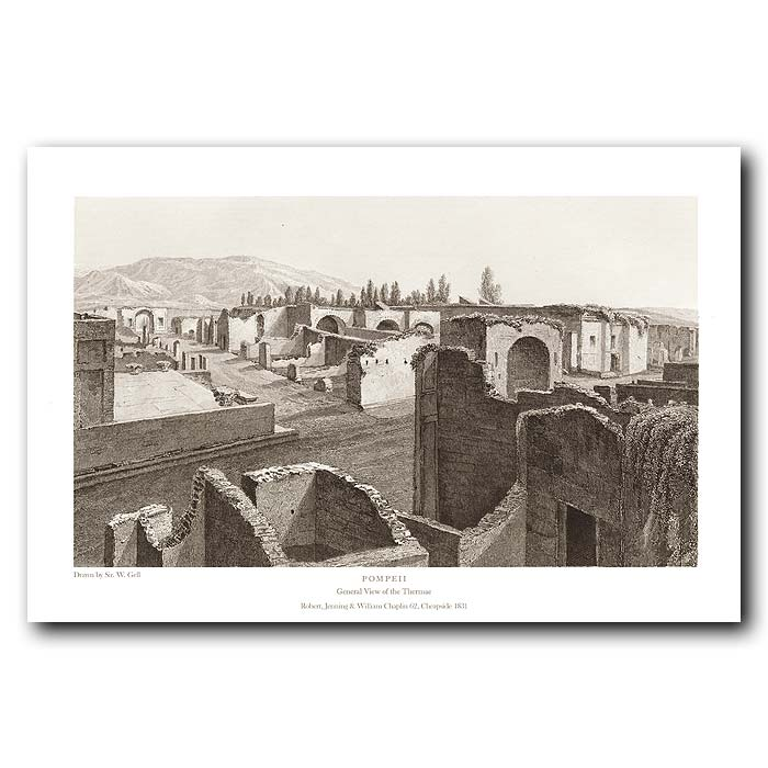 Fine art print for sale. Pompeii: General View Of The Thermae