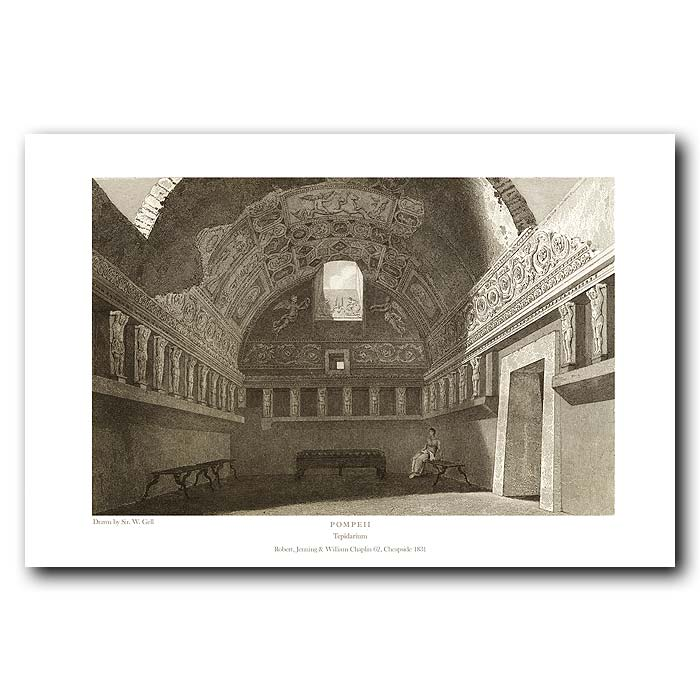 Fine art print for sale. Pompeii: Tepidarium (Warm Baths)