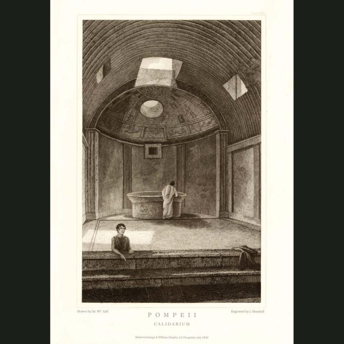 Fine art print for sale. Pompeii: Caldarium (Hot Baths)