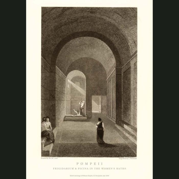 Fine art print for sale. Frigidarium And Piscina In The Women's Baths