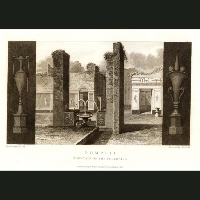 Fine art print for sale. Pompeii: Pedestals In The Forum (II)