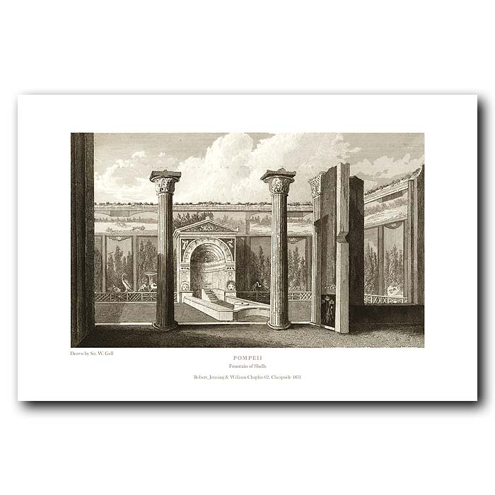 Fine art print for sale. Pompeii: Fountain Of Shells