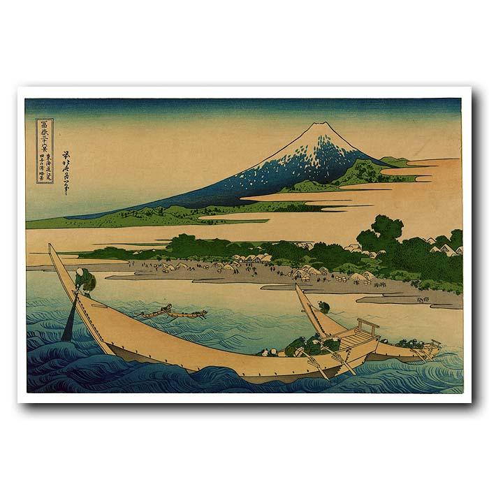Fine art print for sale. Mt.Fuji And Boats