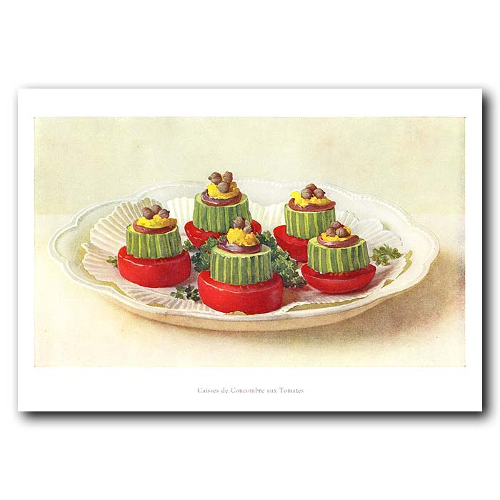 Fine art print for sale. Cases of Cucumber with Tomatoes