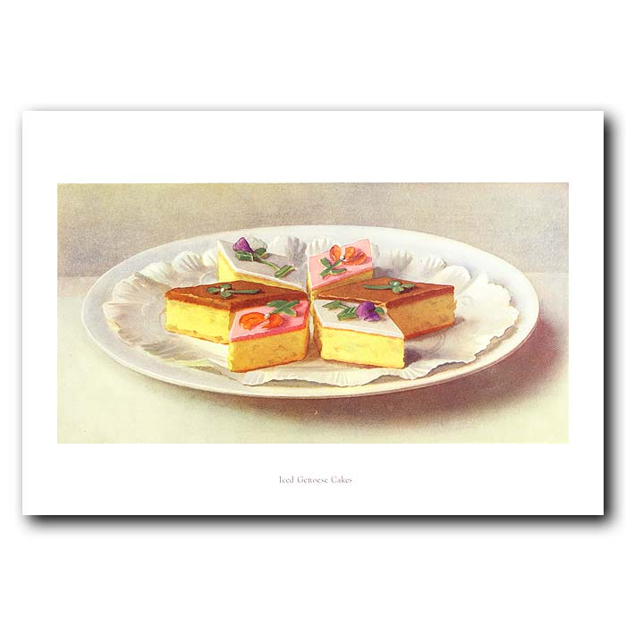 Fine art print for sale. Iced Genoese Cakes