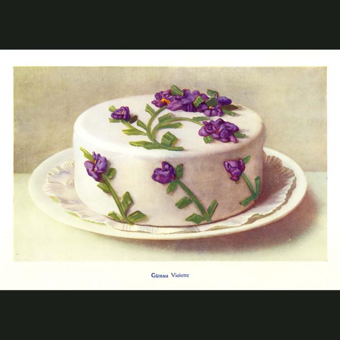 Fine art print for sale. Violet Cake