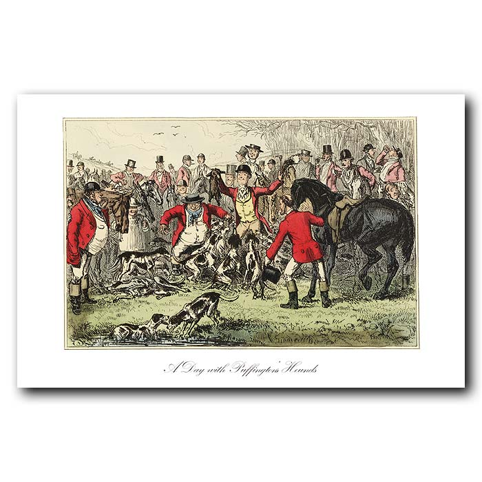 Fine art print for sale. A day with Puffington's Hounds