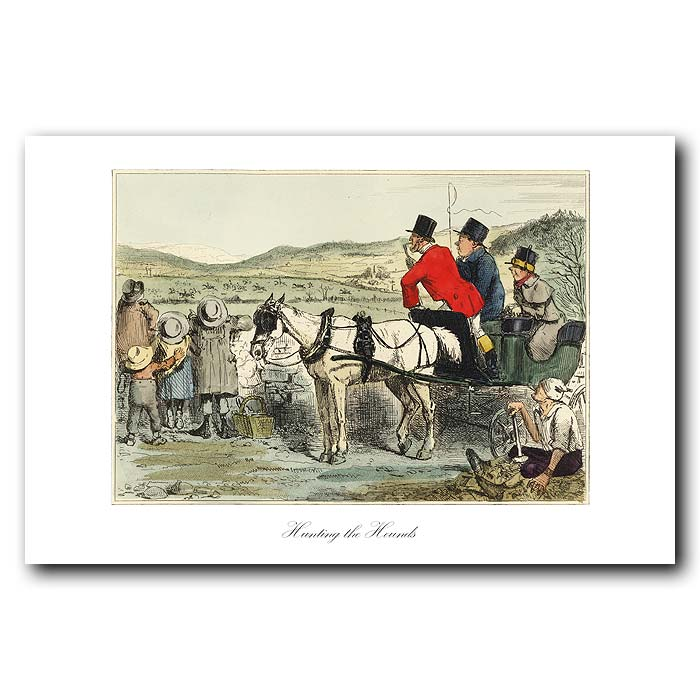Fine art print for sale. Hunting the Hounds