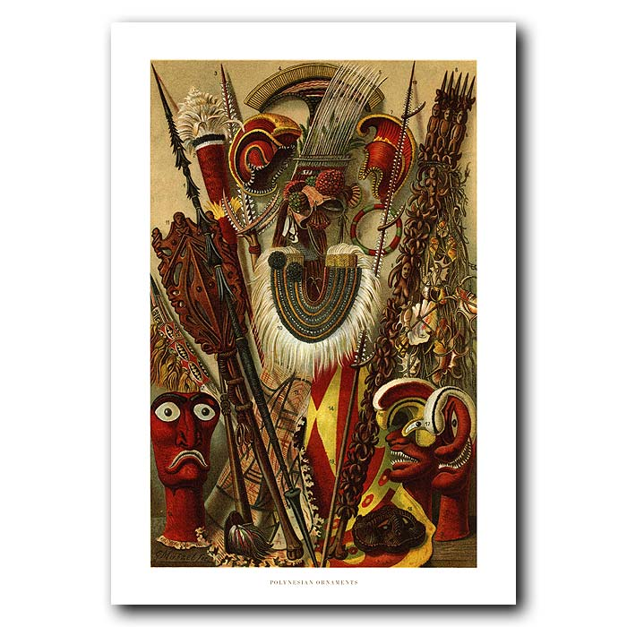 Fine art print for sale. Ornaments From Polynesia