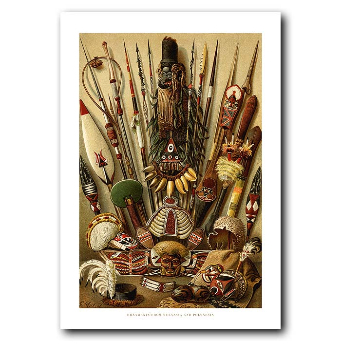 Fine art print for sale. Ornaments From Melanasia & Polynesia