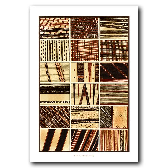 Fine art print for sale. Tapa Cloth Designs From Polynesia.
