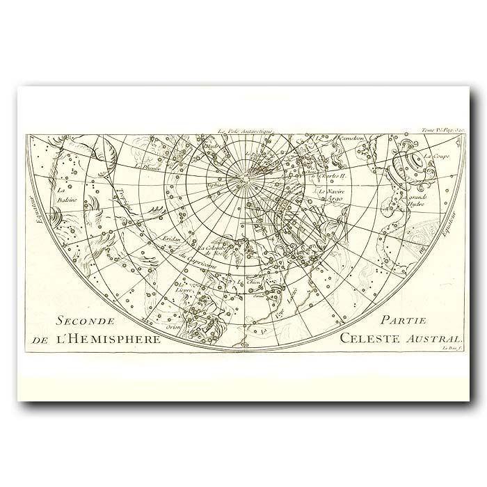 Fine art print for sale. Celestial Map For The South Pole