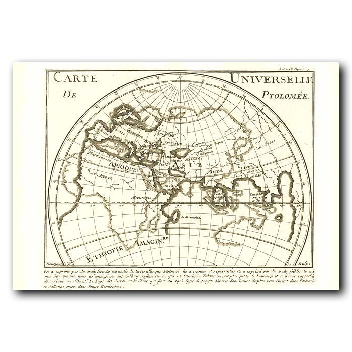 Fine art print for sale. Ptolomy's Map Of The World