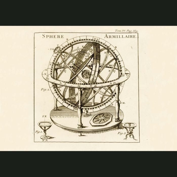 Fine art print for sale. Globe (Sphere Armillaire)