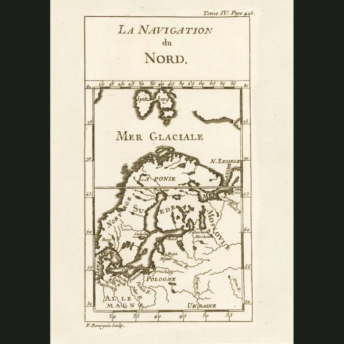 Fine art print for sale. Map Of Scandinavia