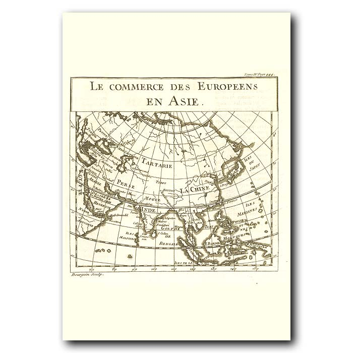 Fine art print for sale. Map Of Asia