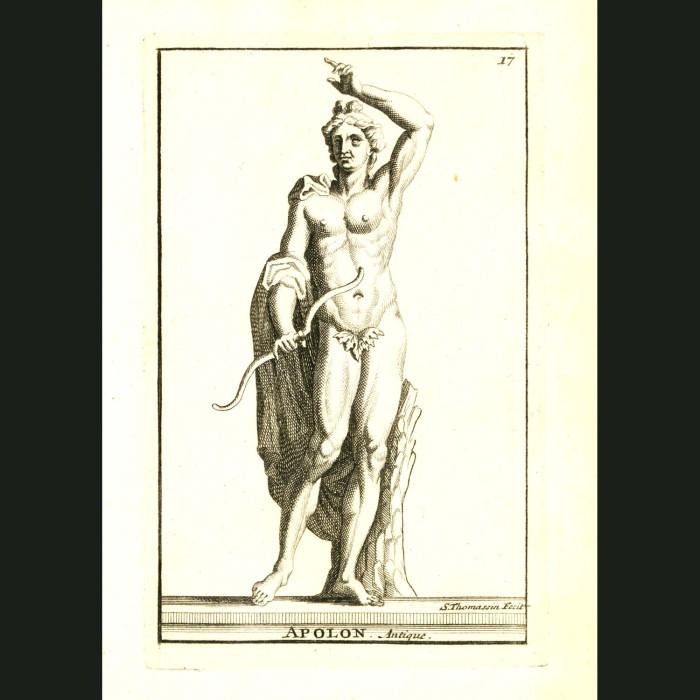 Fine art print for sale. God Apollo With Bow