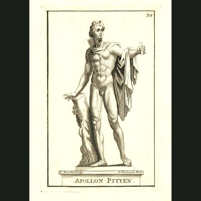 Fine art print for sale. God Apollo Statue